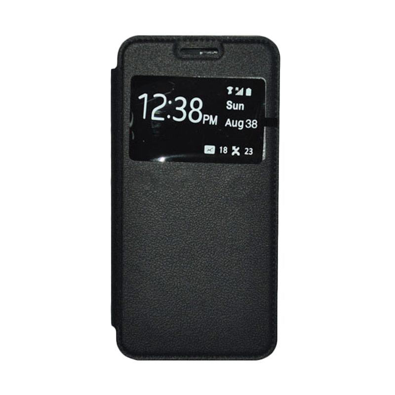 OEM Leather Book Cover Casing for Xiaomi Redmi - Black