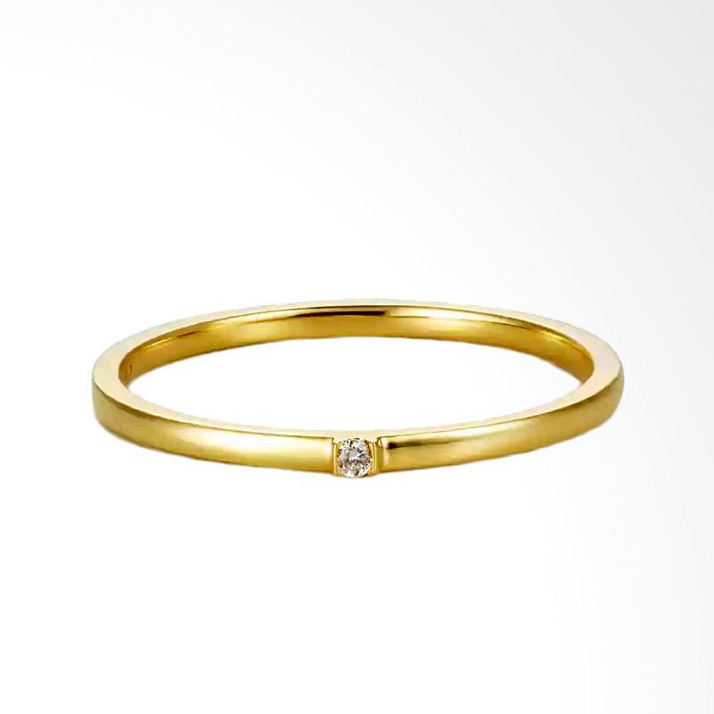 Tiaria Joy Ring Perhiasan Cincin Zircon Emas [9K]