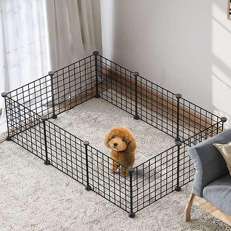 Kandang Pagar Kandang Umbar Besi Lipat Kelinci Kucing Anjing Kura Kura DIY Pet Cage For Dog Cat
