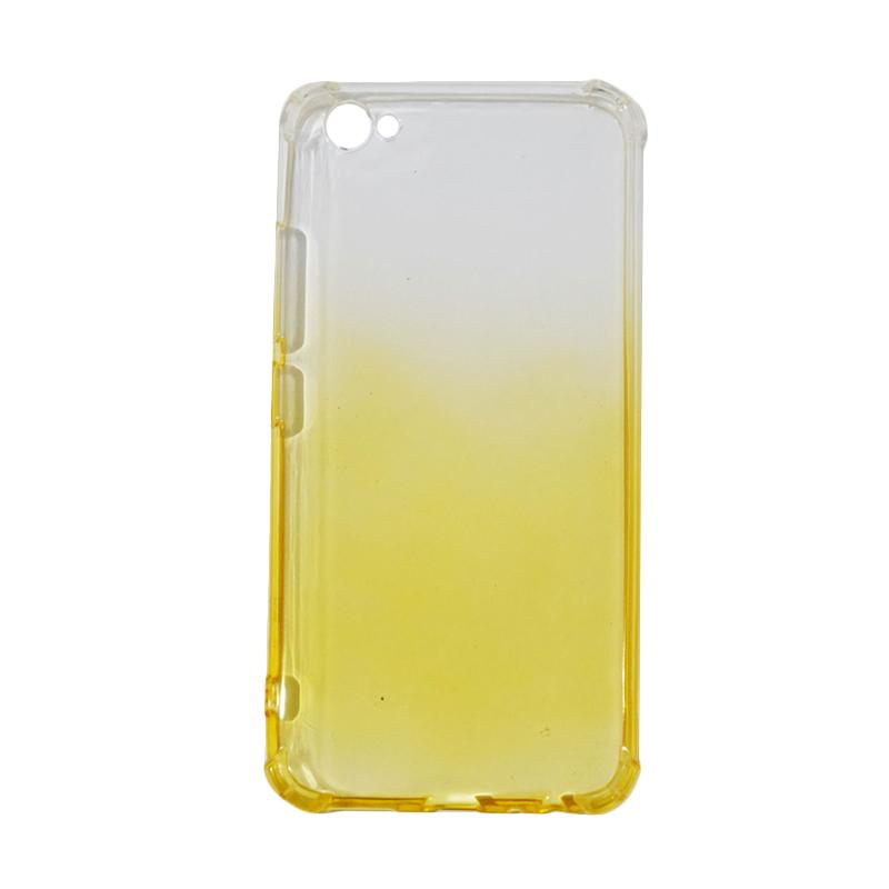QCF BUY 1 GET 1 Softcase Anti Shock Anti Crack Warna Gradasi Silicone Casing for Vivo V5 Plus / Vivo V5+ / X9 Ultrathin / Case Unik - Kuning (Free Warna Random)