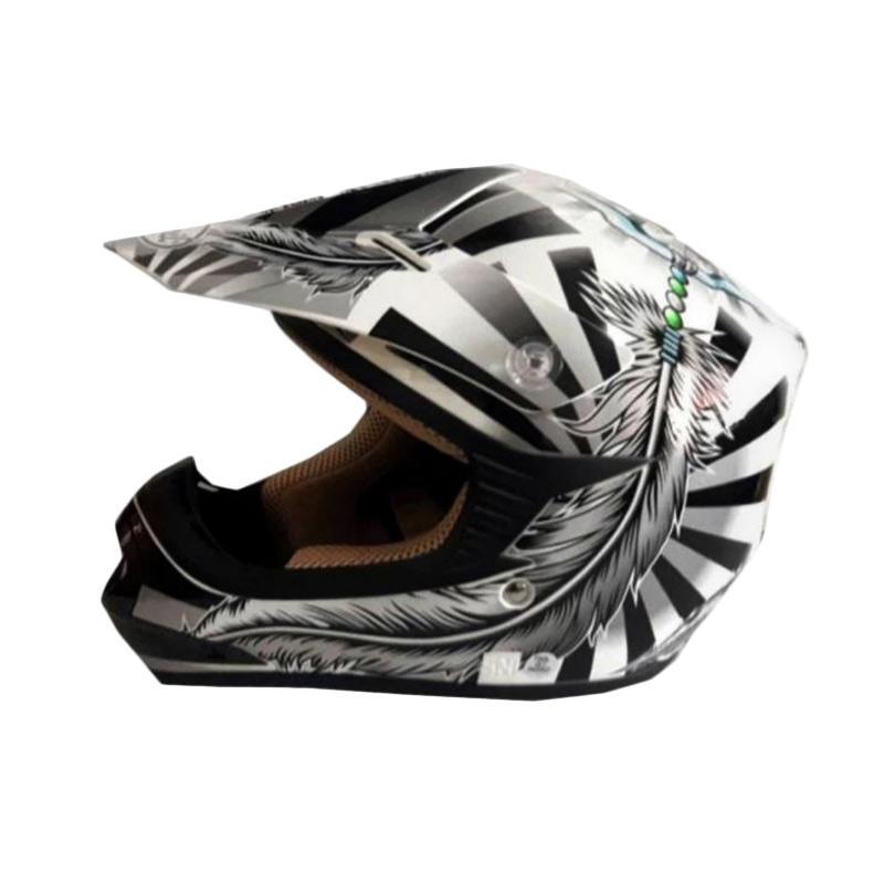 Snail Helmet Motif Indian MX306 Youth Helm Motocross Anak - Putih
