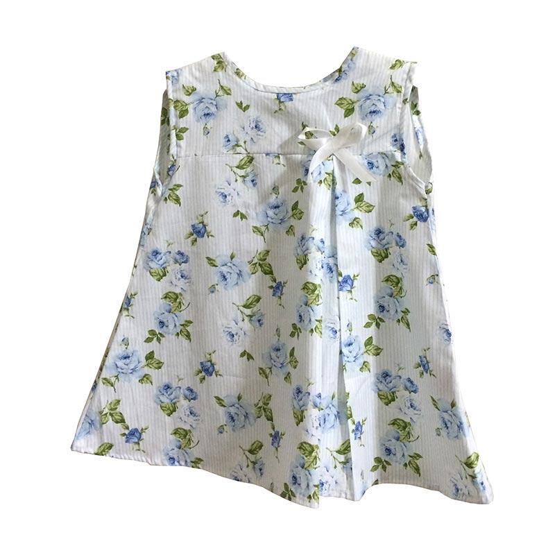 Kirana Kids Wear Nadia Flower Dress Anak Perempuan - Blue