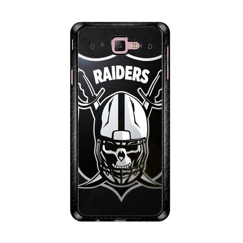 Flazzstore Oakland Raiders Logo Z4061 Custom Casing for Samsung Galaxy J7 Prime