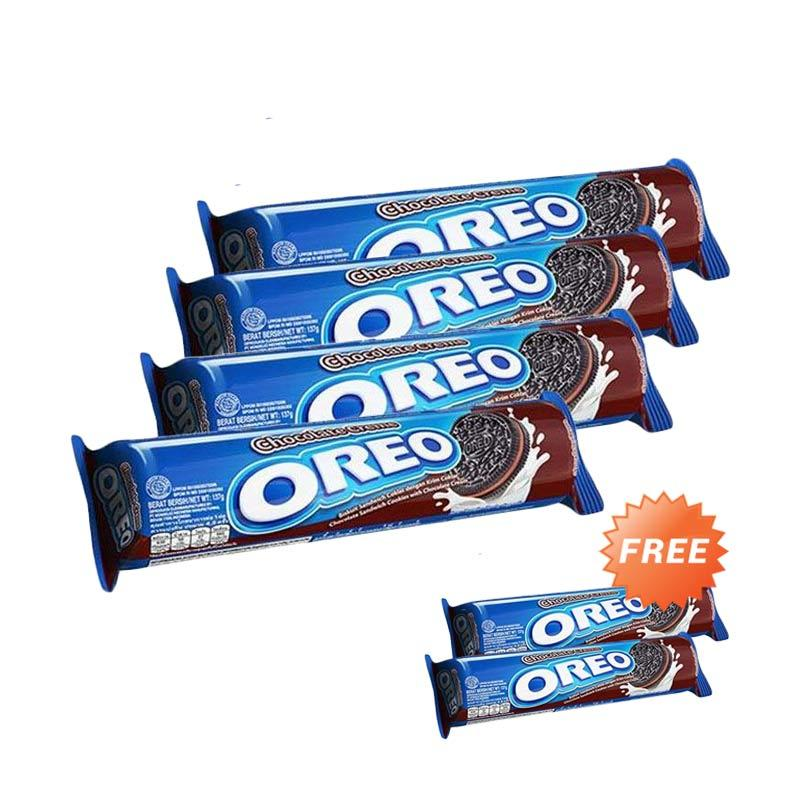harga Buy 4 Get 2 - Oreo Chocolate Biskuit [137 g] Blibli.com