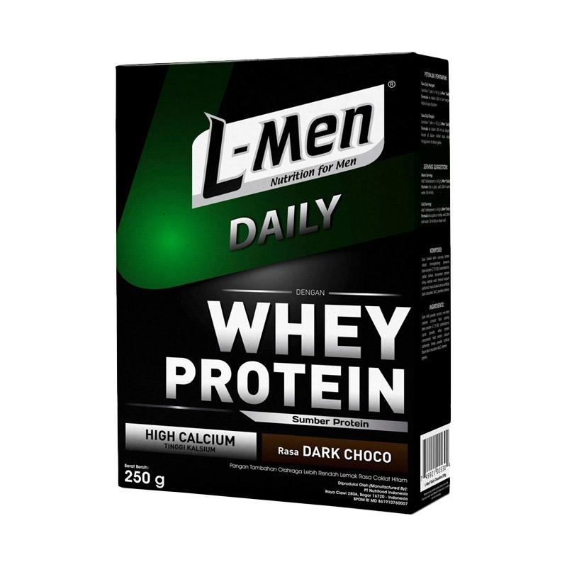 harga L-Men Hi Protein Whey Daily Dark Chocolate Minuman Kesehatan Blibli.com