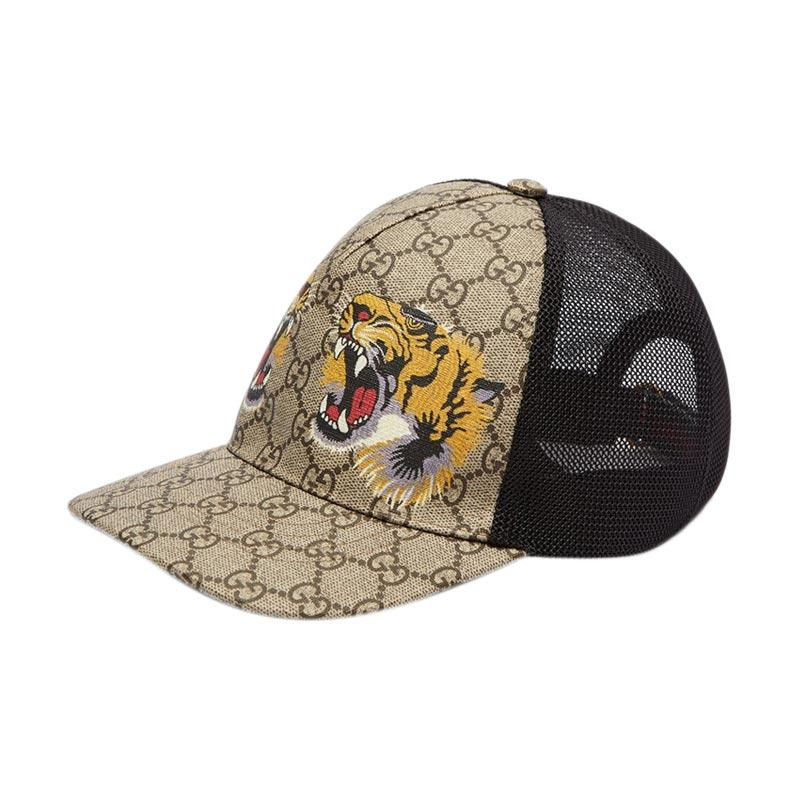Gucci GG Supreme Cap Tiger print Mesh