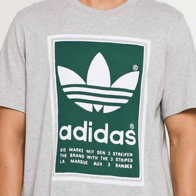 adidas Originals Men Filled Label T Shirts Pria [ED6939]