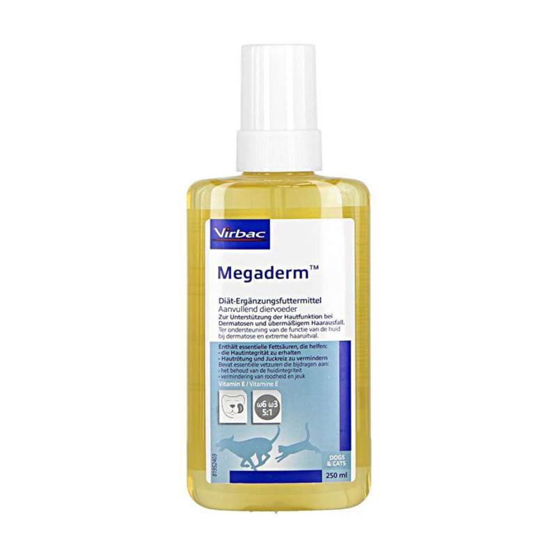 Virbac Megaderm Vitamin Bulu Anjing Kucing 250 mL