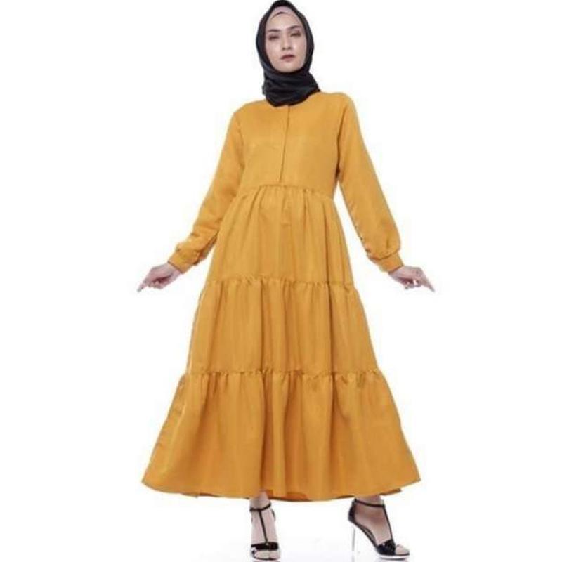 Jual Al Hayra Tasqiyyah 023 Syari Susun Rempel Polos Maxi Gamis Wanita Online Maret 2021 Blibli