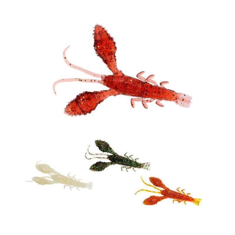 Silica 3D Craw Fish Crawfish Iodine Scent Soft Shrimp Fishing Lure Bass Bait
