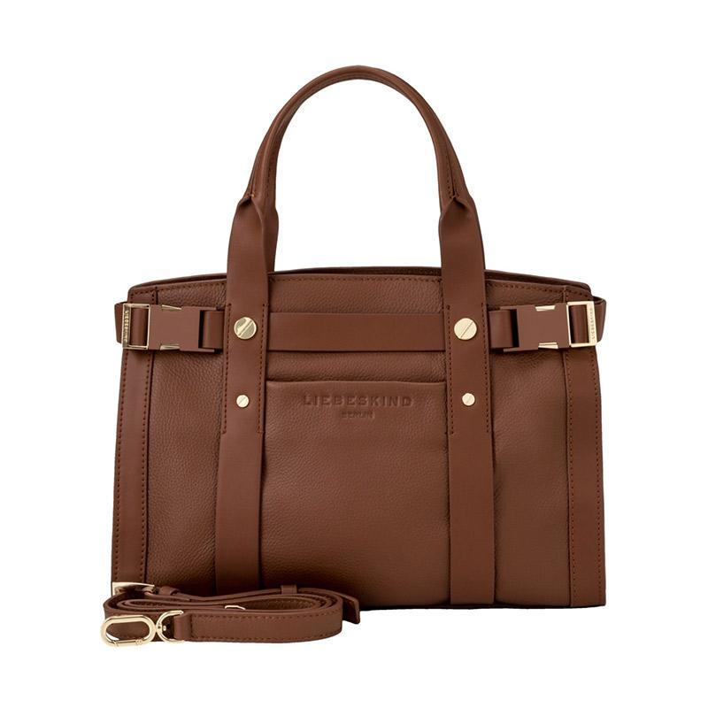 Liebeskind Berlin 4058629107040 Sporty Satchel M Toffee Hand Bag Wanita