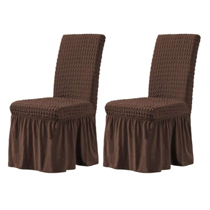 Jual 2x Dining Chair Covers Ruffled Skirt Stool Slipcover Stretch Spandex Chair Protectors Short Kitchen Chair Seat Cover For Home Coffee Online Februari 2021 Blibli
