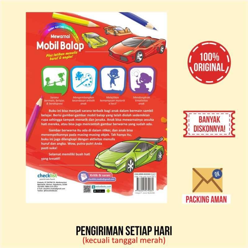 Buku Aktivitas Anak Golden Age Copy Coloring Mewarnai Mobil Balap Terbaru Agustus 2021 Harga Murah Kualitas Terjamin Blibli