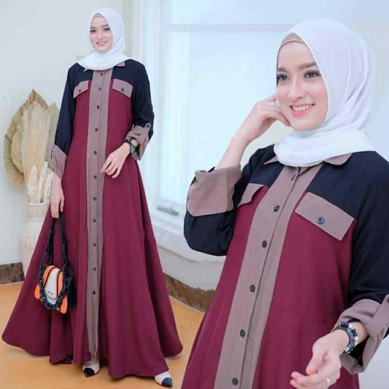 Jual Aini Dress Gamis Maxi Pakaian Wanita Baju Muslim Online Maret 2021 Blibli