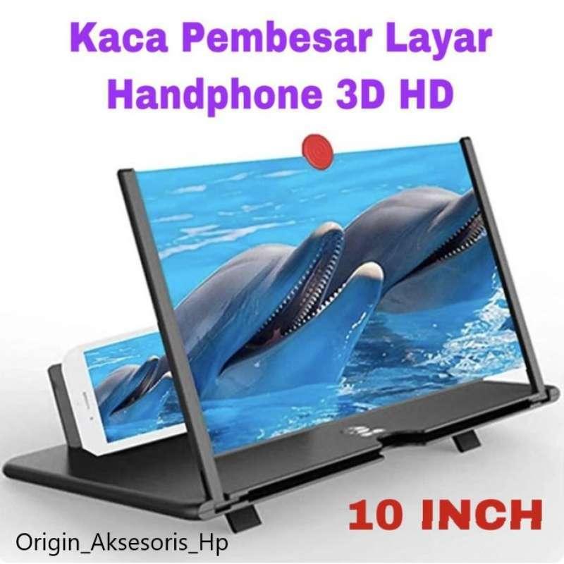 Kaca Pembesar Layar Handphone 3D HD Ukuran 10 Inch