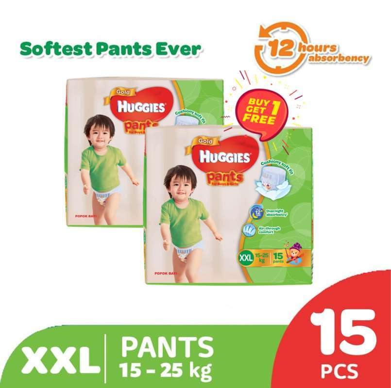 Buy 1 Get 1 Free Huggies Gold Pants Popok Celana