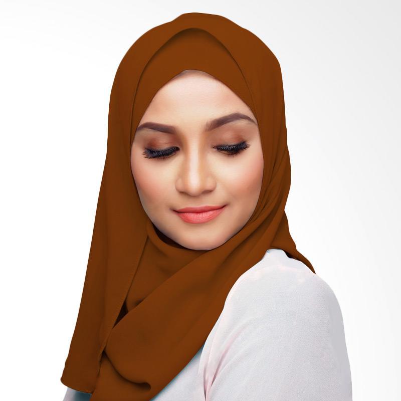 Aitana Hijab KD019 Kerudung Polos Segiempat - Coklat