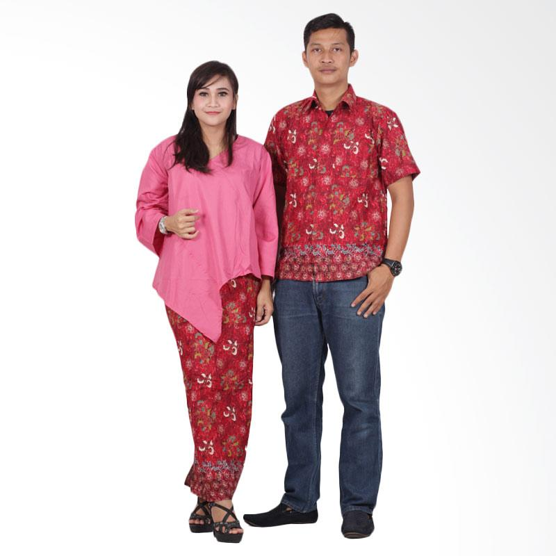 Batik Putri Ayu Solo srd201 Batik Couple Sarimbit Dress - Pink