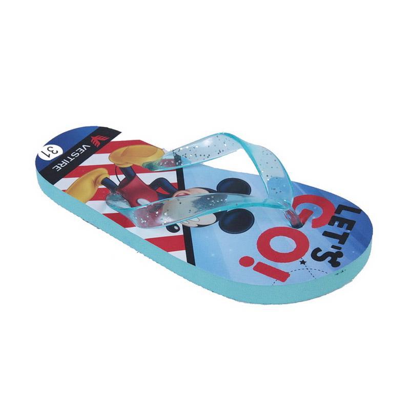 Chloebaby Shop  S215 Mickey Sandal Anak - Biru