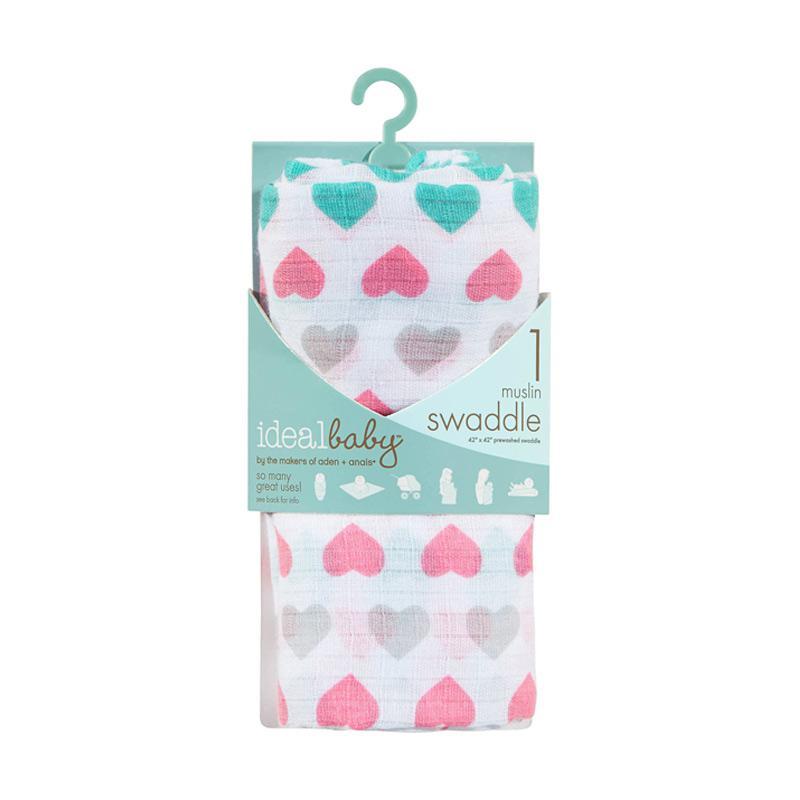 Ideal Baby - Single Muslin Swaddle - Pretty Sweet - Kain Bedong Bayi dan Anak