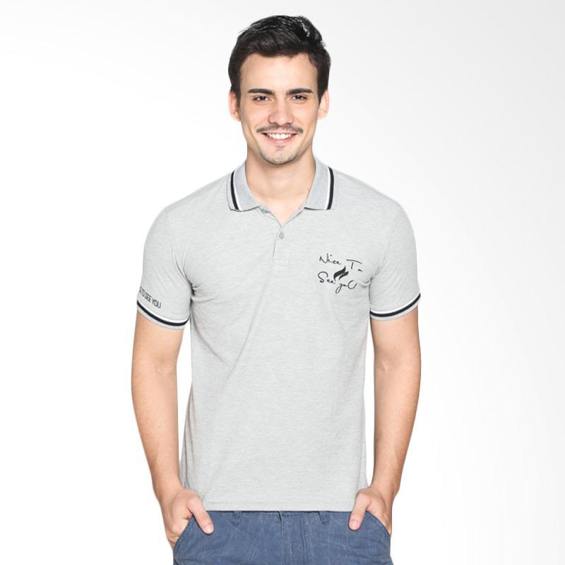 Nice To See yoU PSN-0006 Polo Shirt Pria Extra diskon 7% setiap hari Extra diskon 5% setiap hari