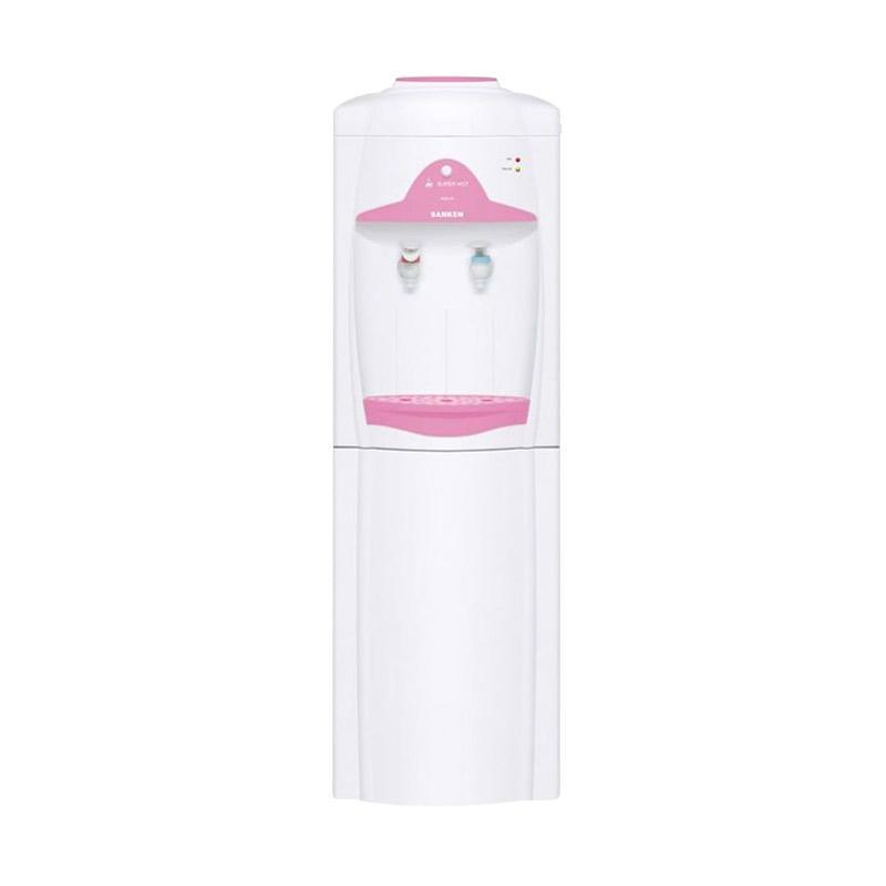 Sanken HWE-62 Portable 2in1 Dispenser - Putih Pink