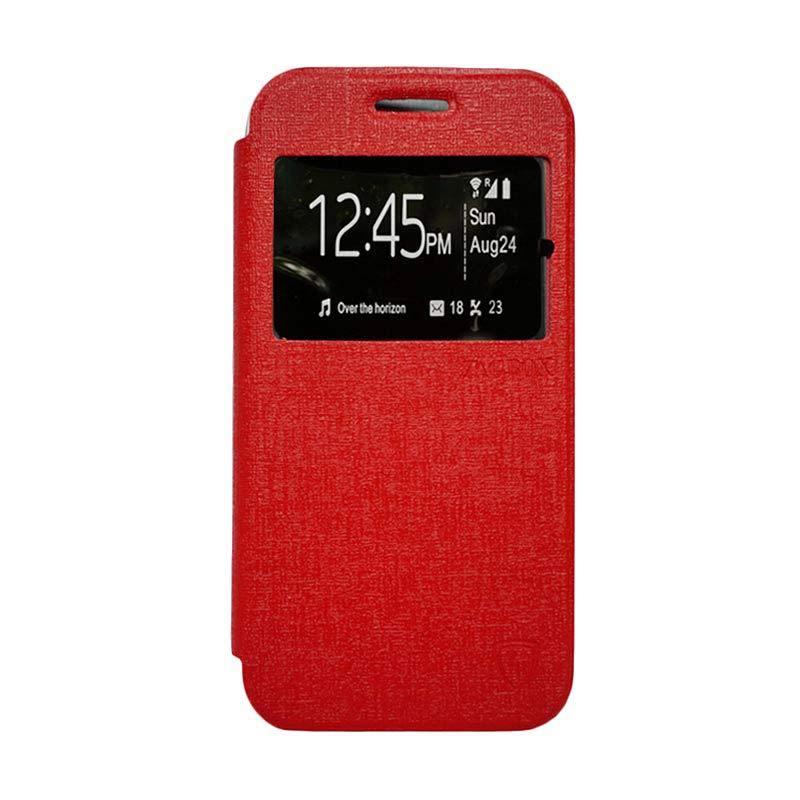 ZAGBOX Flip Cover Casing for Samsung Galaxy S6 Edge - Merah