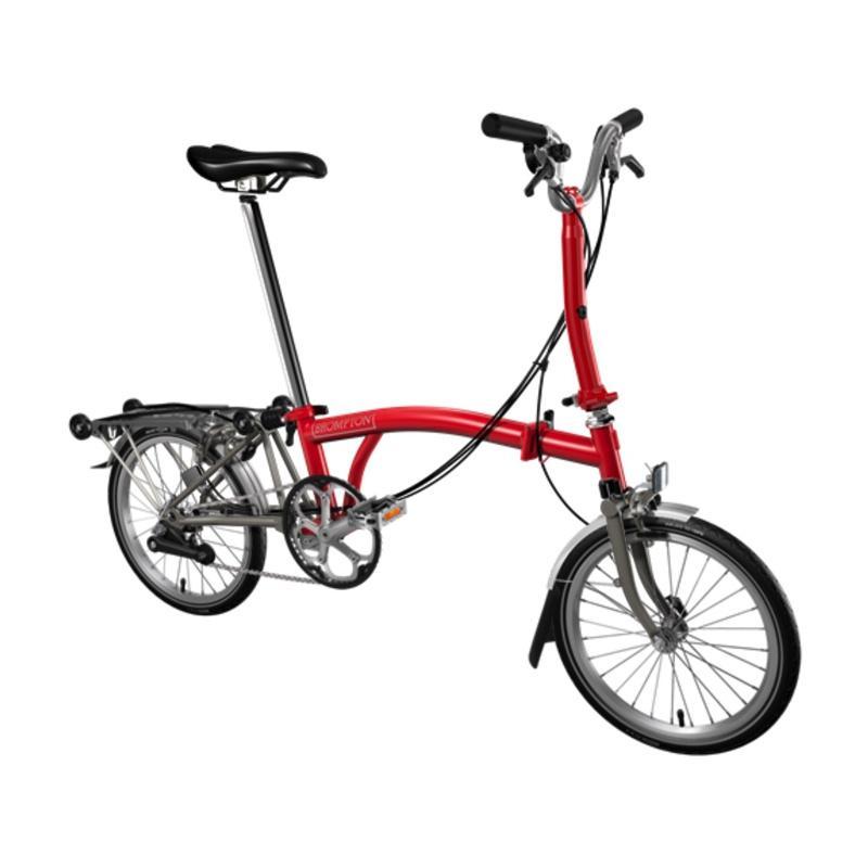 harga Brompton M6RX 2017 Sepeda Lipat - Red Titanium Blibli.com