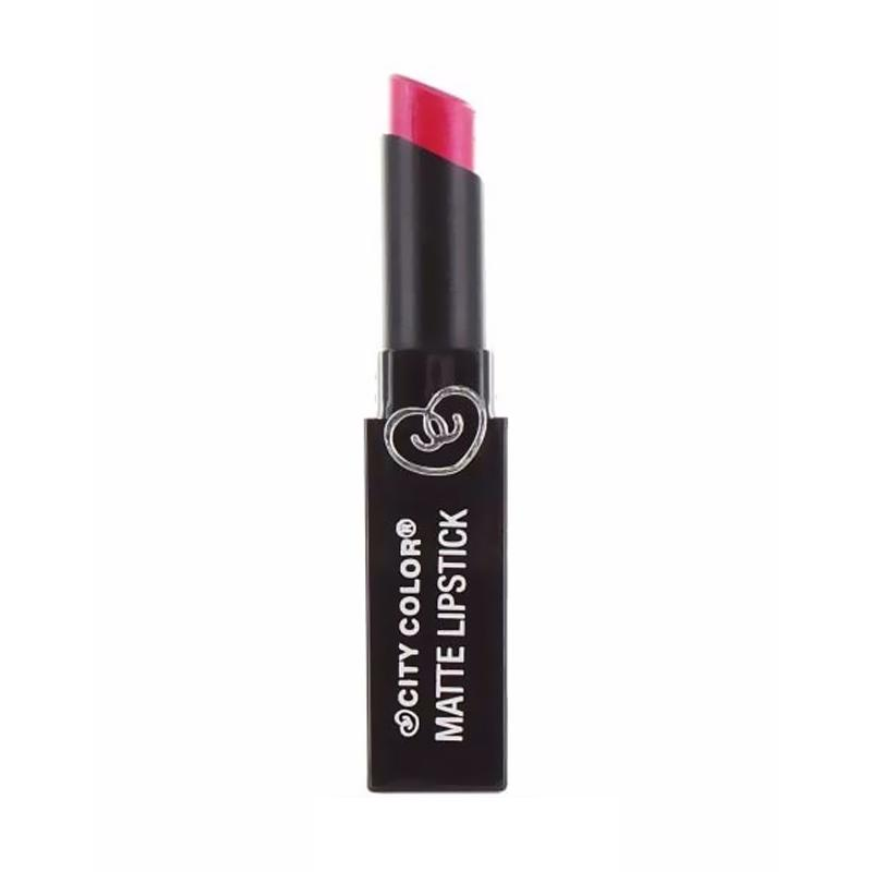 City Color Matte Lipstick - Shimmer Pink
