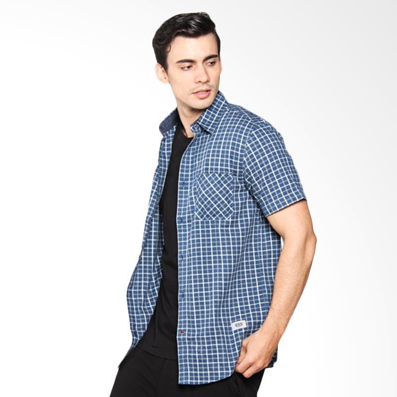 Greenlight Men Shirt Kemeja Pria - Blue 208041711