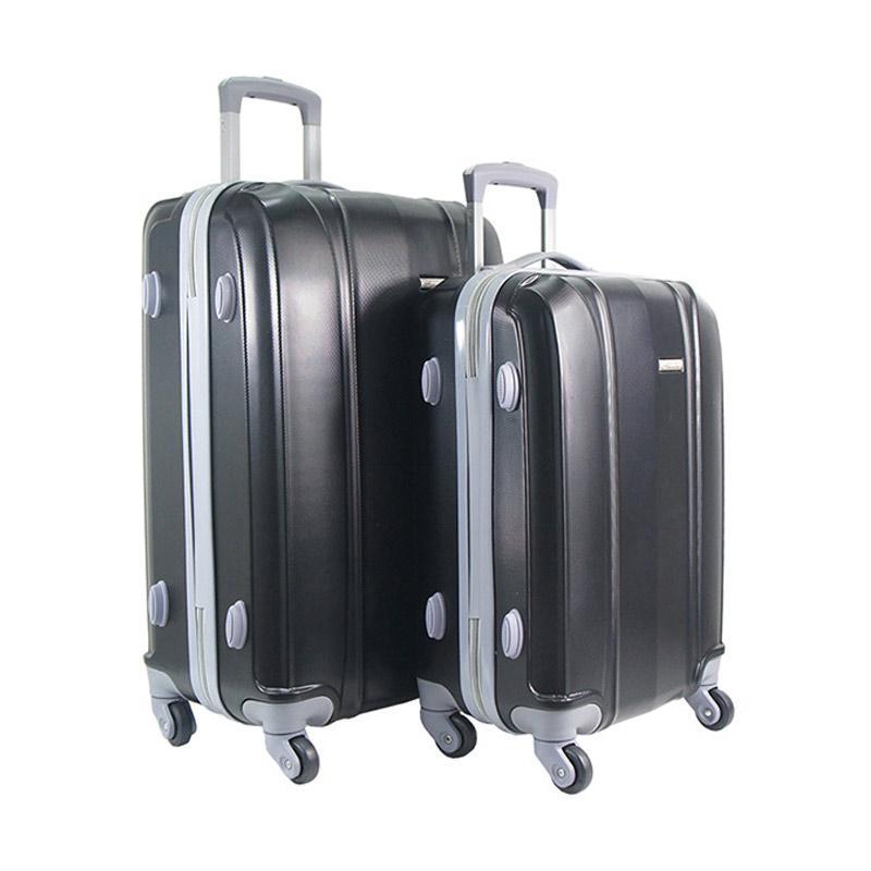 Polo Twin HD 1608 Troley Bag Set - Black [20 dan 24 Inch]