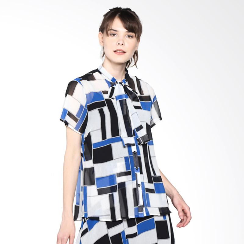 PS Career PC203GU60042 Geometric Print Shirt - Blue