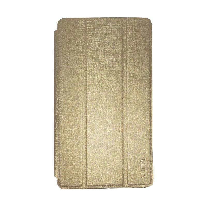 harga Ume Leather Flip Cover Casing for Lenovo Tab 2 A7-10 - Gold Blibli.com