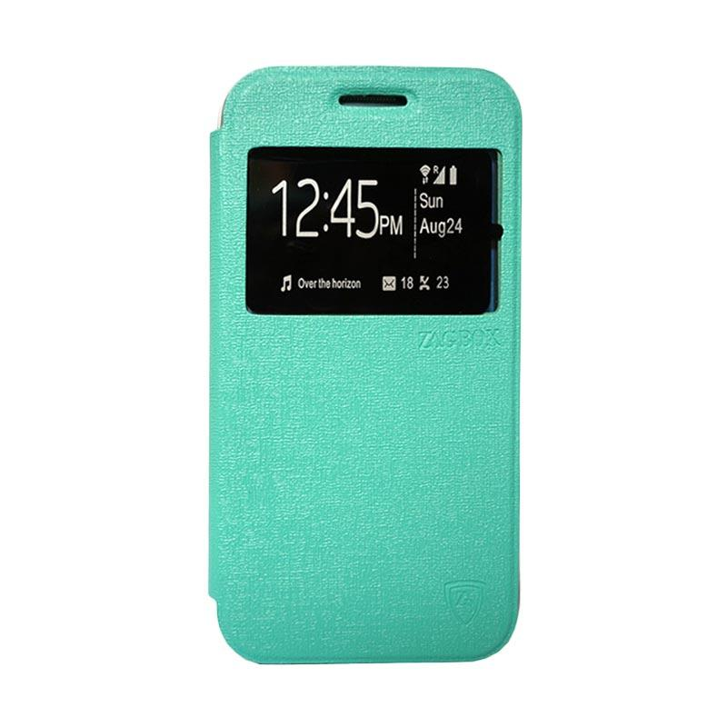 Zagbox Flip Cover Casing for Lenovo K5 Plus - Hijau Tosca