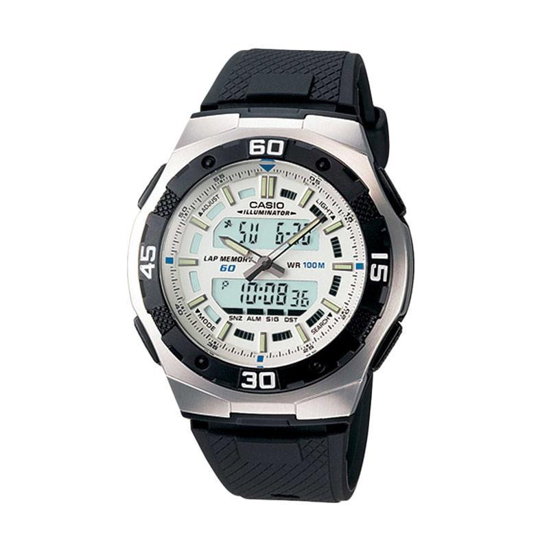 Casio AQ-164W-7AVDF Jam Tangan Pria - Black Silver White