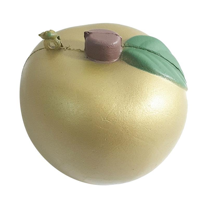 Chocobi Slime Medium Apple Squishy Gantungan Kunci - Gold