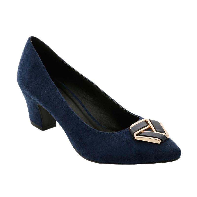 GatsuOne Gwenda 1 Heels Sepatu Wanita - Navy