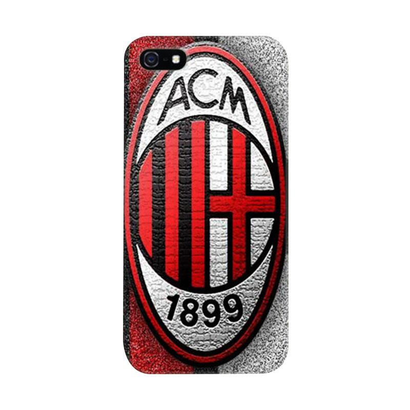 Indocustomcase AC Milan Cover Hardcase Casing for Apple iPhone 5/5S/SE