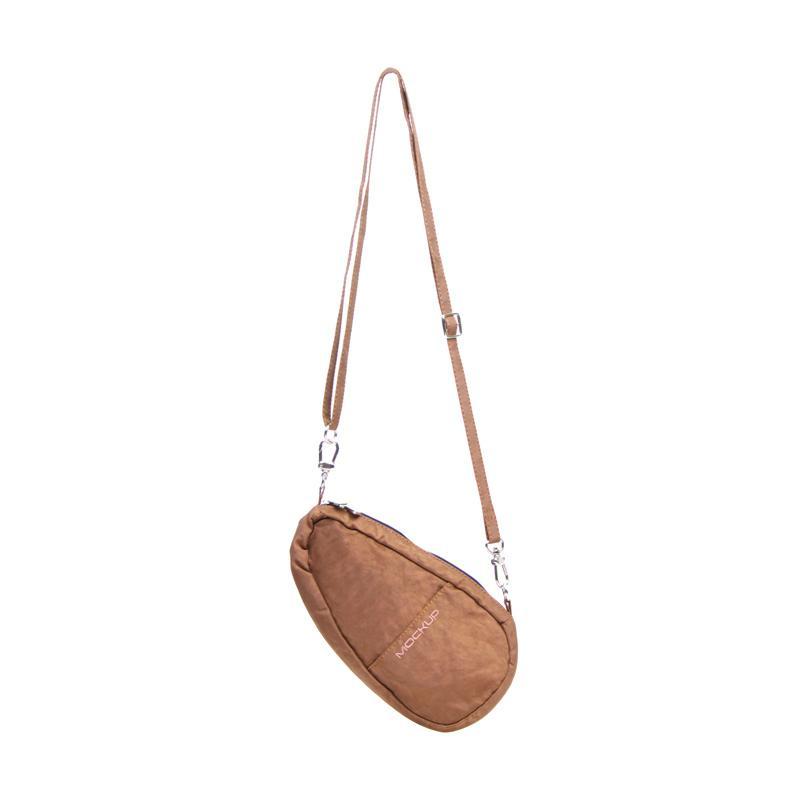 Mini Bean Sling Bag Mockup BSL 02 Tas Unisex - Mocca
