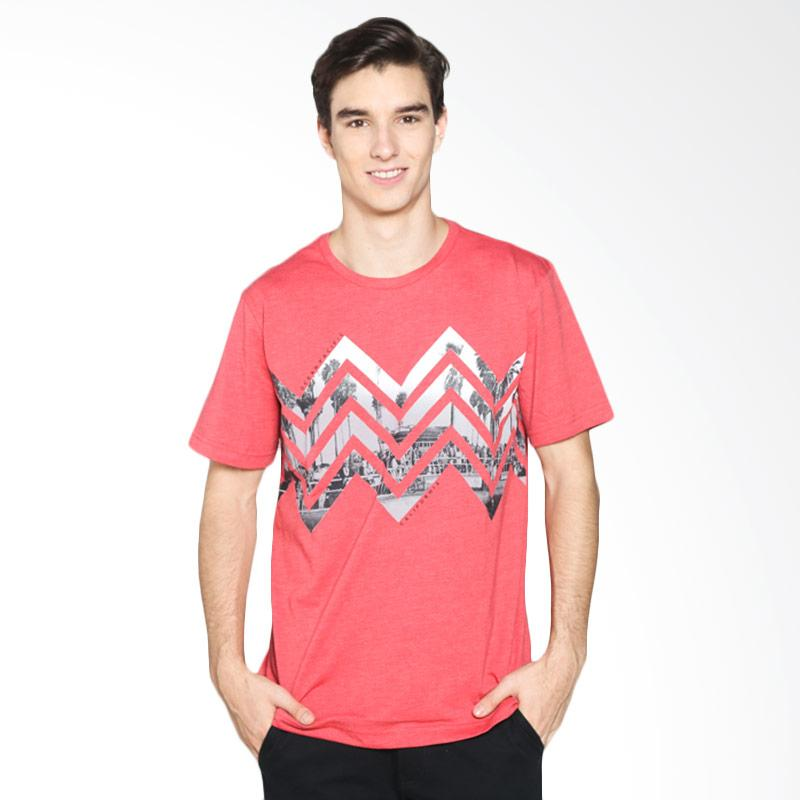 Ocean Pacific 03MTF99370 Mens Tshirt Fashion - Red