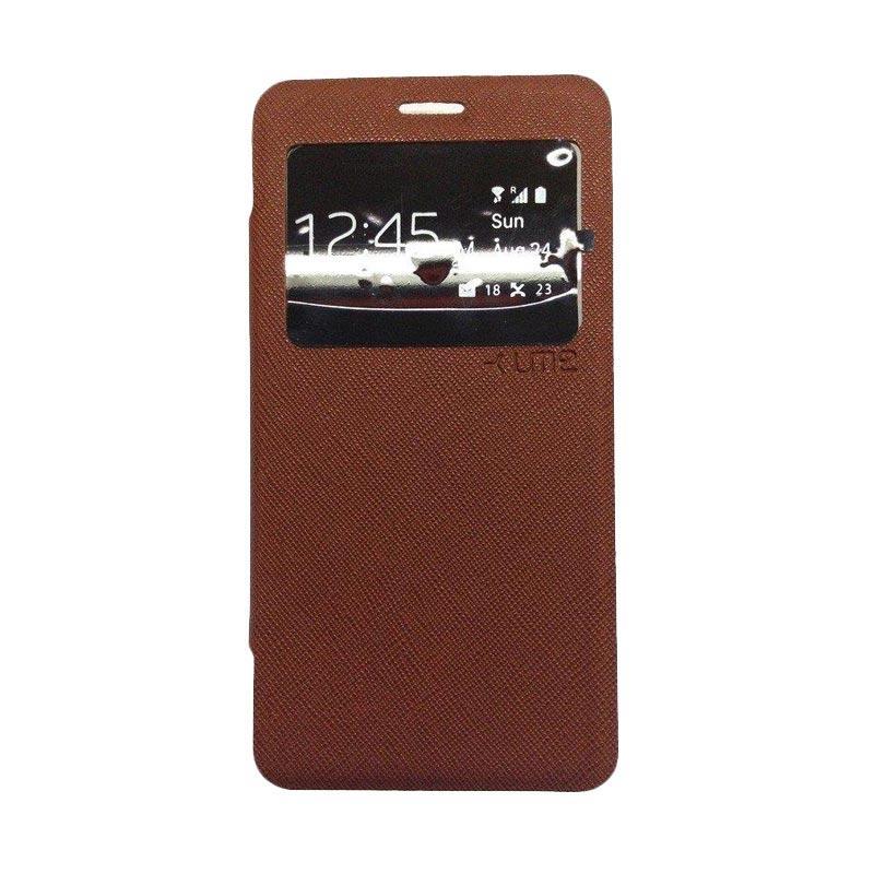 Ume Flip Cover Casing for Xiaomi Redmi 4 Prime - Coklat