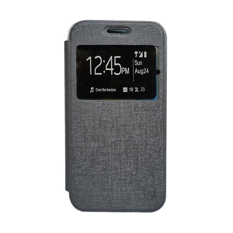 ZAGBOX Flip Cover Casing for Asus Zenfone 2 ZE550ML 5.5 Inch - Abu-abu