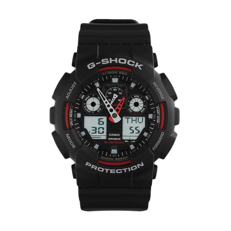 Casio G-SHOCK GA-100-1A4DR Jam Tangan Pria - Black Red