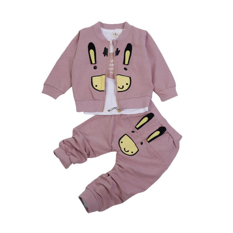 Chloe Babyshop F959 Setelan 3in1 Rabbit - Pink