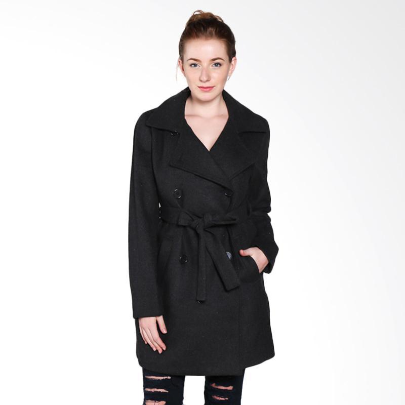 harga Coldwear 15652 Trench Coat Jacket Wanita - Dark Grey Blibli.com