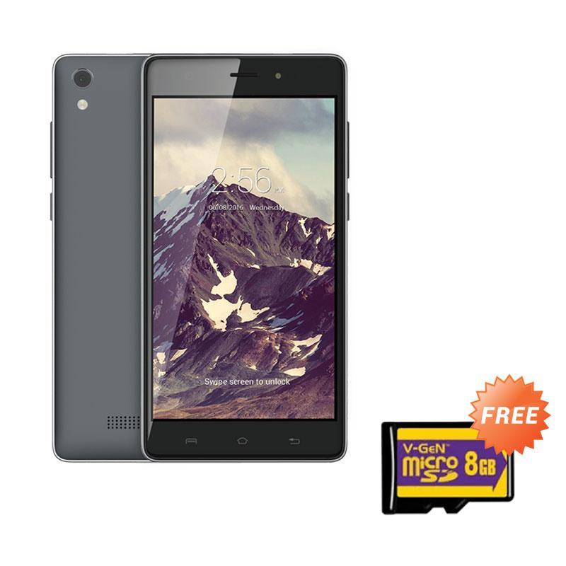 harga Lava Iris 820 Smartphone - Grey [8GB/ 1GB] + Free Memory Card 8GB Blibli.com