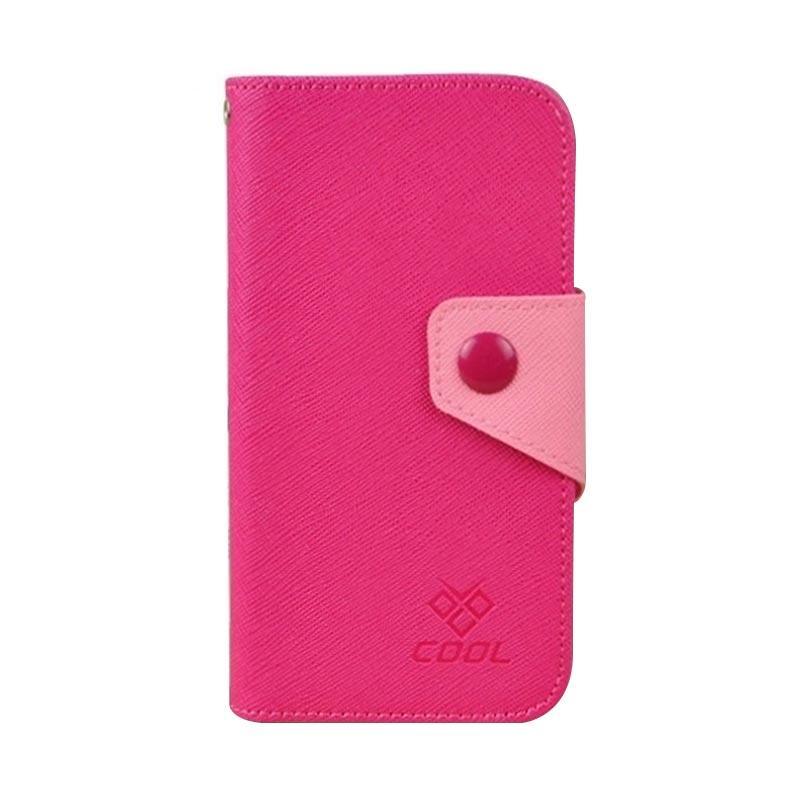 OEM Case Rainbow Cover Casing for LG X Mach - Merah Muda