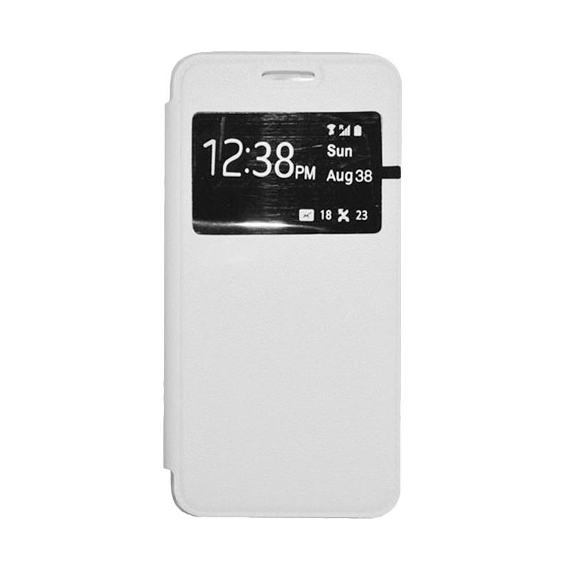 OEM Leather Book Cover Casing for Xiaomi Mi4i - White