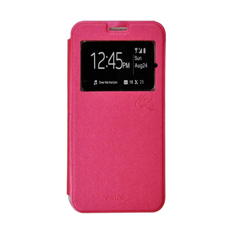 SMILE Flip Cover Casing for Xiaomi Mi4i - Hot Pink
