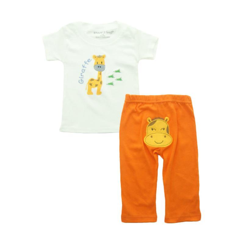 Bearhug Giraffe Set Pakaian Bayi Laki-laki [2 pcs] - Putih